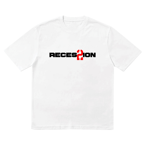 Recession 2 White Tee