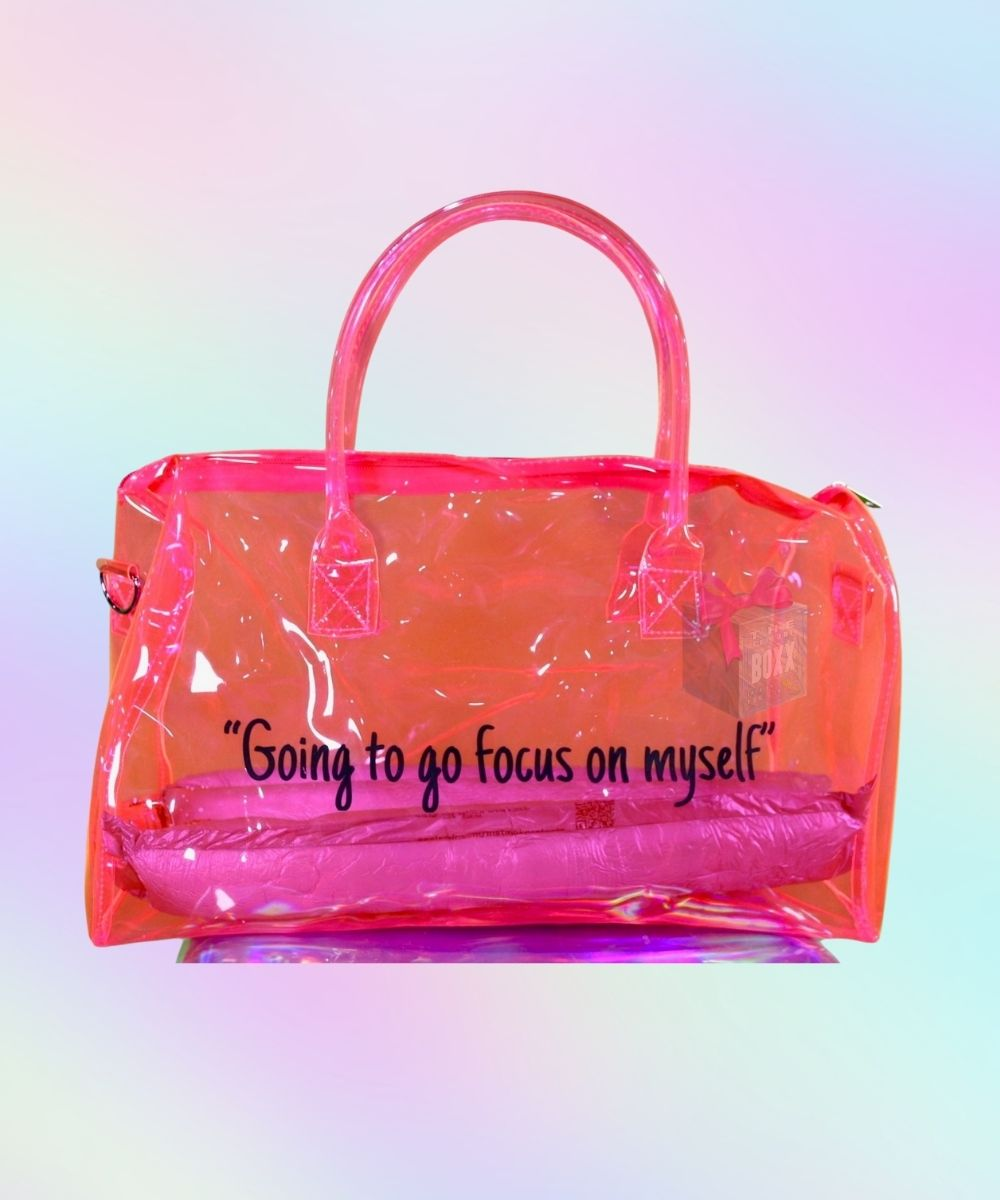 Spend The Night Duffel Bag Hot Pink