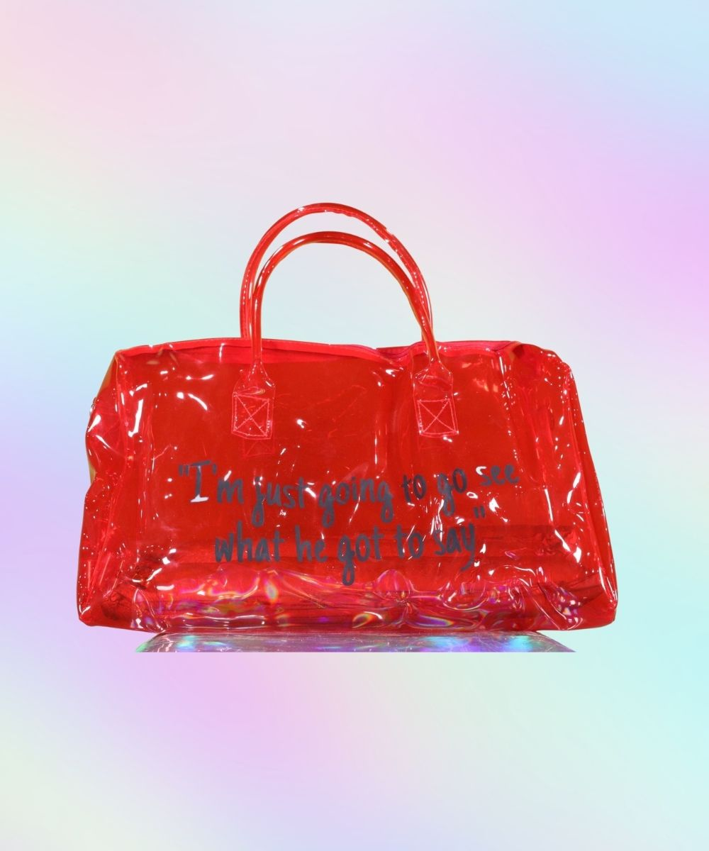 Spend The Night Duffel Bag Red
