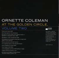 "The Ornette Coleman Trio : At The ""Golden Circle"" Stockholm - Volume Two (CD, Album, RE, RM)"