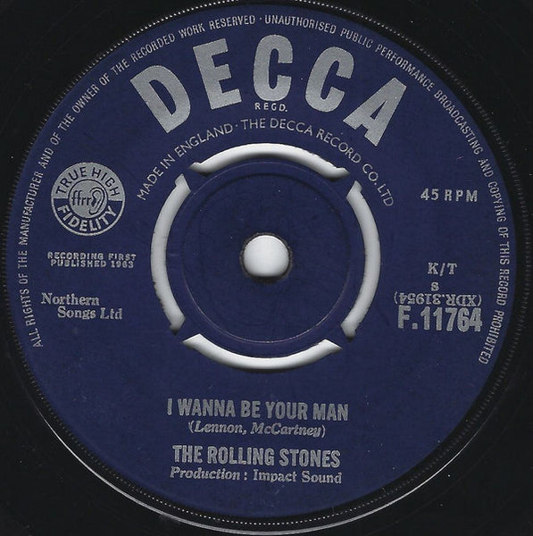 "The Rolling Stones : I Wanna Be Your Man (7"", Single)"