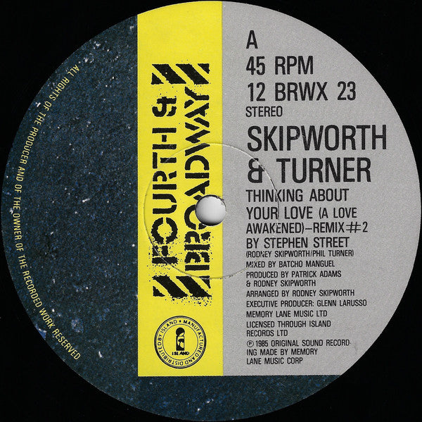 "Skipworth & Turner : Thinking About Your Love (Remix #2) (12"")"