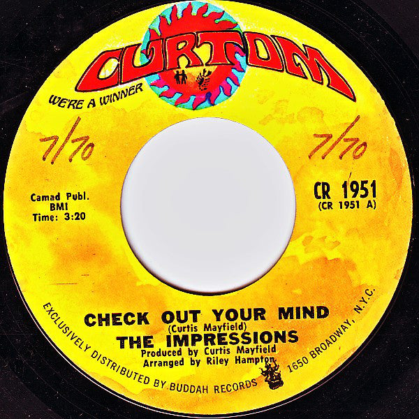 "The Impressions : Check Out Your Mind / Can't You See (7"", Pit)"