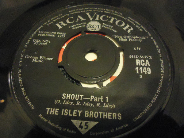 "The Isley Brothers : Shout (7"", Single)"