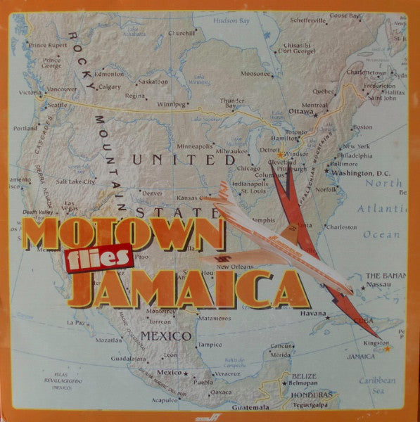 Various : Motown Flies Jamaica (LP, Comp, Unofficial)