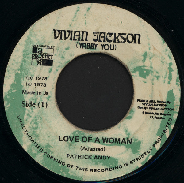 "Patrick Andy : Love Of A Woman (7"", Gre)"