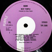 Deep Purple : Burn (LP, Album)