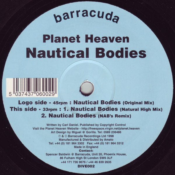 "Planet Heaven : Nautical Bodies (12"")"