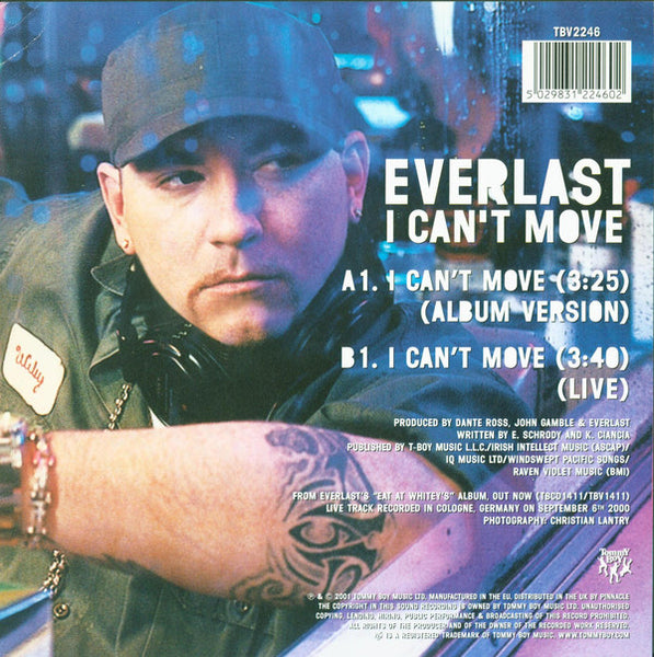 "Everlast : I Can't Move (7"", Single, Ltd, Num, Cle)"