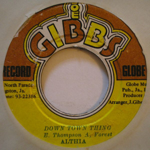 "Althea Forrest : Down Town Thing (7"")"