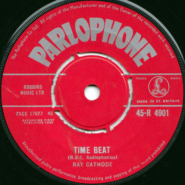 "Ray Cathode : Time Beat / Waltz In Orbit (7"", Single, 4-P)"