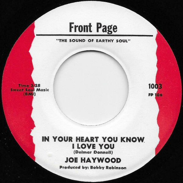 "Joe Haywood : In Your Heart You Know I Love You / I Cross My Heart ( And Hope To Die) (7"", Single)"