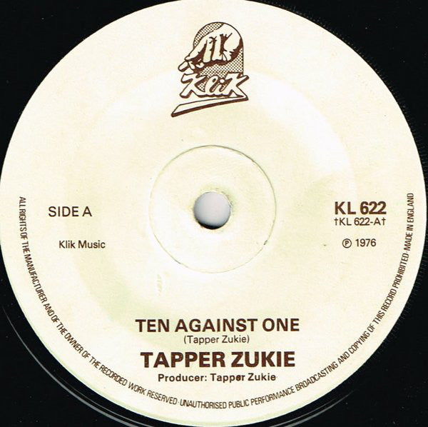 "Tapper Zukie : Ten Against One / Rockers (7"")"
