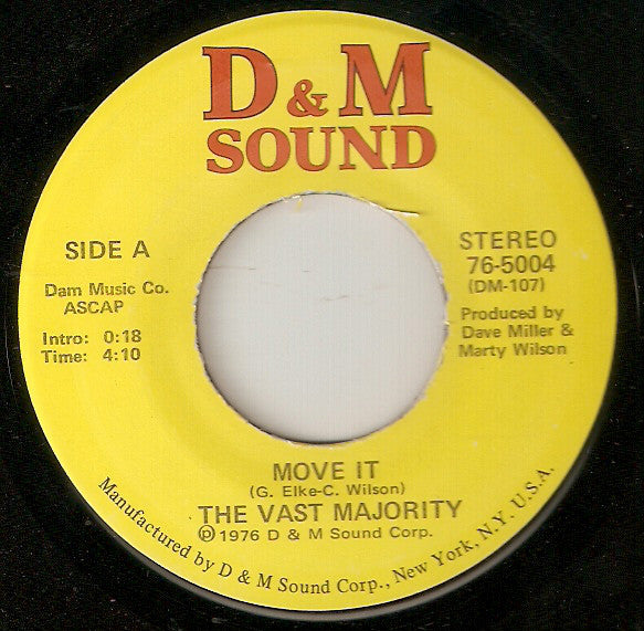 "The Vast Majority : Move It (7"", Single)"