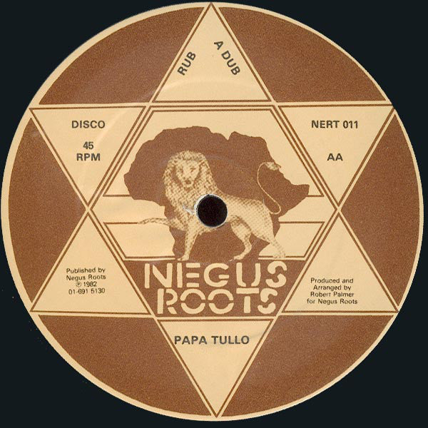 "Jah Son / Papa Tullo : She Loves The Rub A Dub / Rub A Dub (12"")"