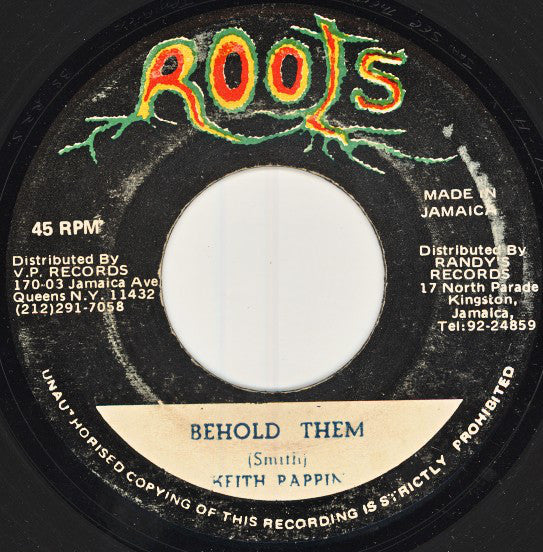 "Keith Poppin : Behold Them (7"")"