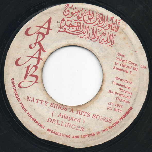"Dellinger* : Natty Sings A Hits Songs / Dub Songs (7"")"