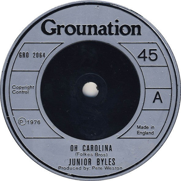 "Junior Byles : Oh Carolina / West Of Adisababa (7"", Single)"