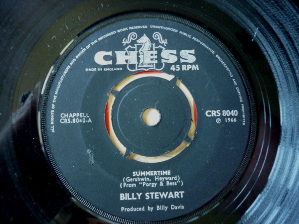 "Billy Stewart : Summertime / To Love To Love (7"", RP, Sil)"