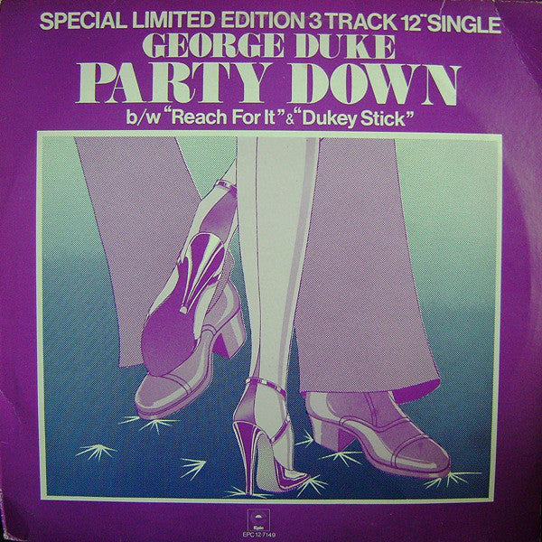 "George Duke : Party Down b/w Reach For It & Dukey Stick (12"", Ltd)"