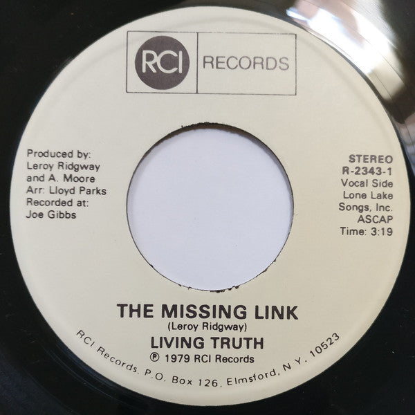 "Living Truth* : The Missing Link (7"")"