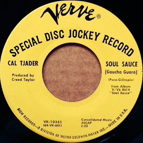 "Cal Tjader : Soul Sauce (Gaucha Guaro) (7"", Single, Promo)"