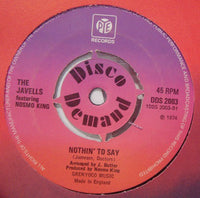 "The Javells Featuring Nosmo King : Goodbye Nothin' To Say (7"", Single, 4-P)"
