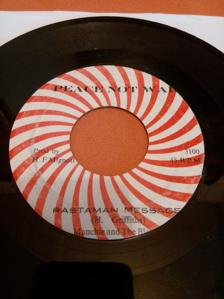 "Manchie (2) And The Blenders* : Rastaman Message (7"")"