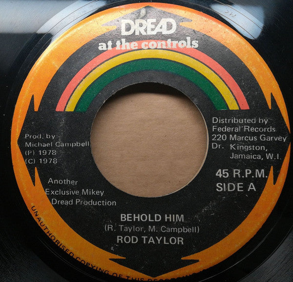 "Rod Taylor / Mikey Dread & King Tubby : Behold Him  / Parrot Jungle (7"")"
