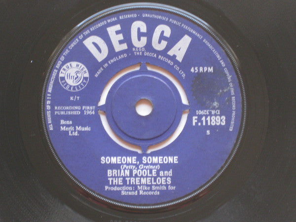 "Brian Poole and The Tremeloes* : Someone, Someone  (7"", Single)"