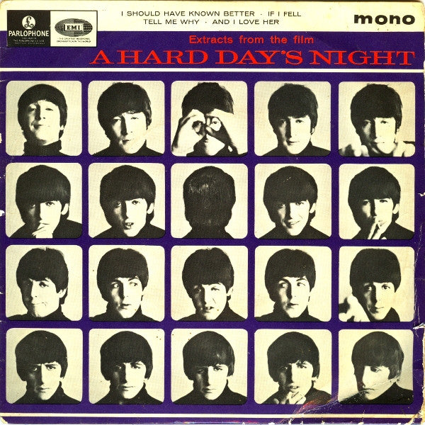 "The Beatles : Extracts From The Film A Hard Day's Night (7"", EP, Mono)"