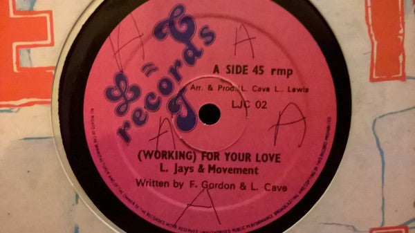 "The L Jays & Movement (11) / Ranking Ivan : Working For Your Love / Catch A Bus (12"", Single)"