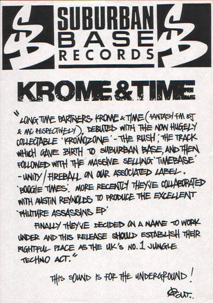 "Krome & Time : This Sound Is For The Underground / Manic Stampede (12"", Promo)"