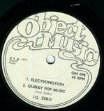 "I.Q. Zero : Insects / Electromotion / Quirky Pop Music (7"", EP)"