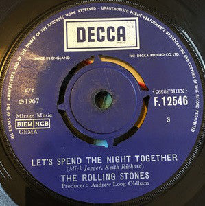 "The Rolling Stones : Let's Spend The Night Together (7"")"