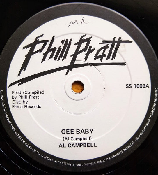 "Al Campbell : Gee Baby / Where Were You?  (12"", Single)"