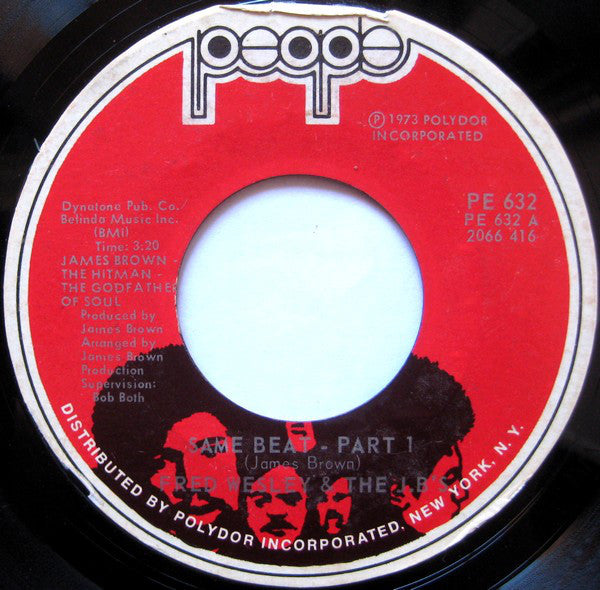 "Fred Wesley & The JB's : Same Beat (7"", Single, Styrene, She)"