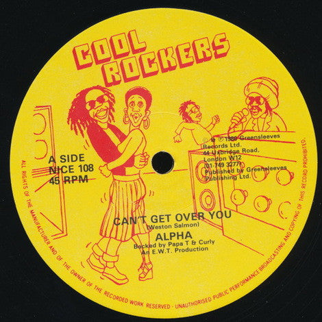 "Alpha (18) / Papa T & Curly (4) : Can't Get Over You / Risk Action Dub (12"")"