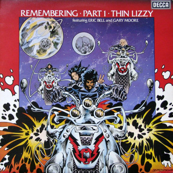 Thin Lizzy Featuring Eric Bell (2) And Gary Moore : Remembering Part 1 (LP, Comp)