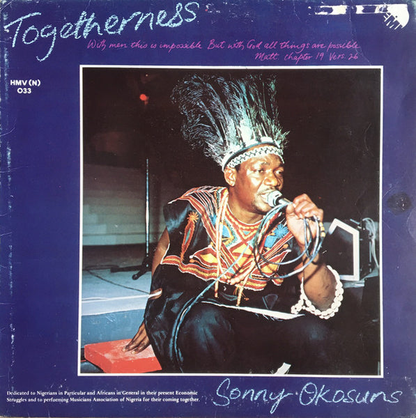 Sonny Okosuns Ozziddi : Togetherness (LP, Album)