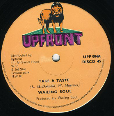 "Wailing Souls / Ringo (5) : Take A Taste / Don't Know Much (12"")"