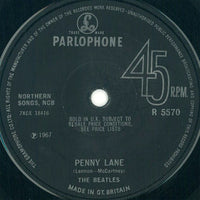 "The Beatles : Strawberry Fields Forever / Penny Lane (7"", Single, Mono, Sol)"