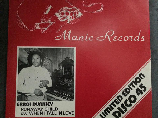 "Errol Dunkley : Runaway Child / When I Fall In Love (12"")"