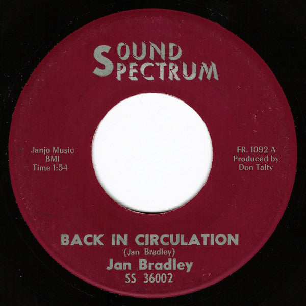 "Jan Bradley : Back In Circulation (7"", Single)"