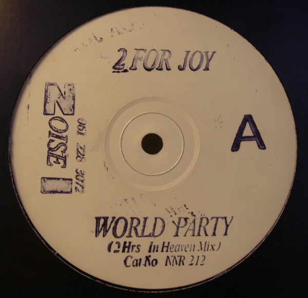 "2 For Joy : World Party (12"", Promo, W/Lbl, Sta)"