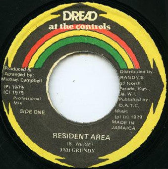 "Jah Grundy / Mikey Dread : Resident Area / Silence Zone (7"")"