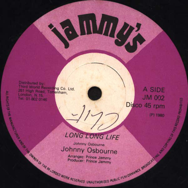 "Johnny Osbourne / Pat Kelly : Long Long Life / Butterfly (12"", M/Print)"