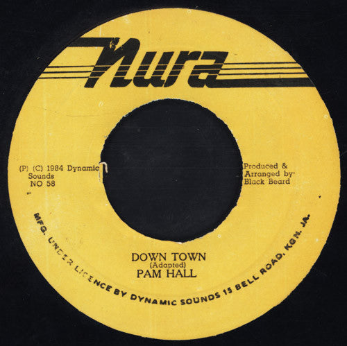 "Pam Hall : Down Town (7"")"