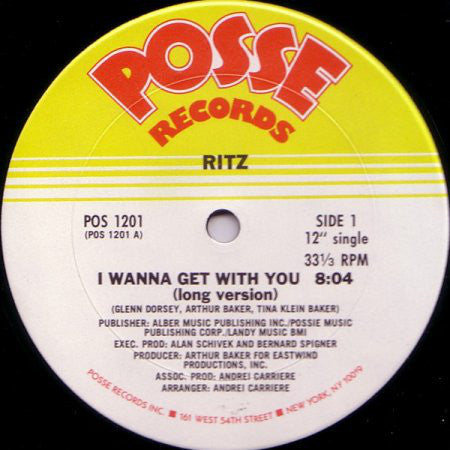 "Ritz (9) : I Wanna Get With You (12"")"