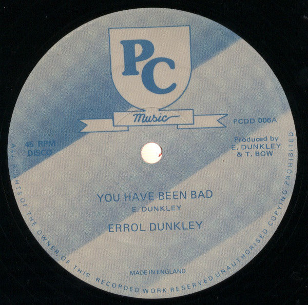 "Errol Dunkley / Errol Dunkley And Golden (16) : You Have Been Bad / Millitant Man (12"")"